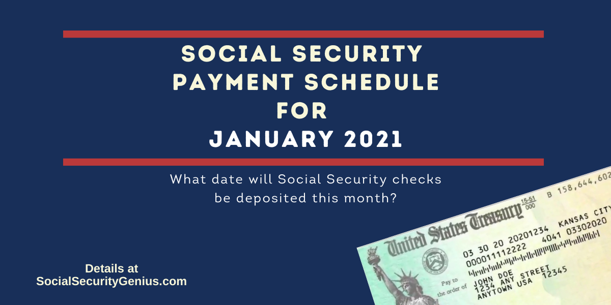 """""""January 2021 Direct Deposit dates for Social Security Benefit Payments"""""""