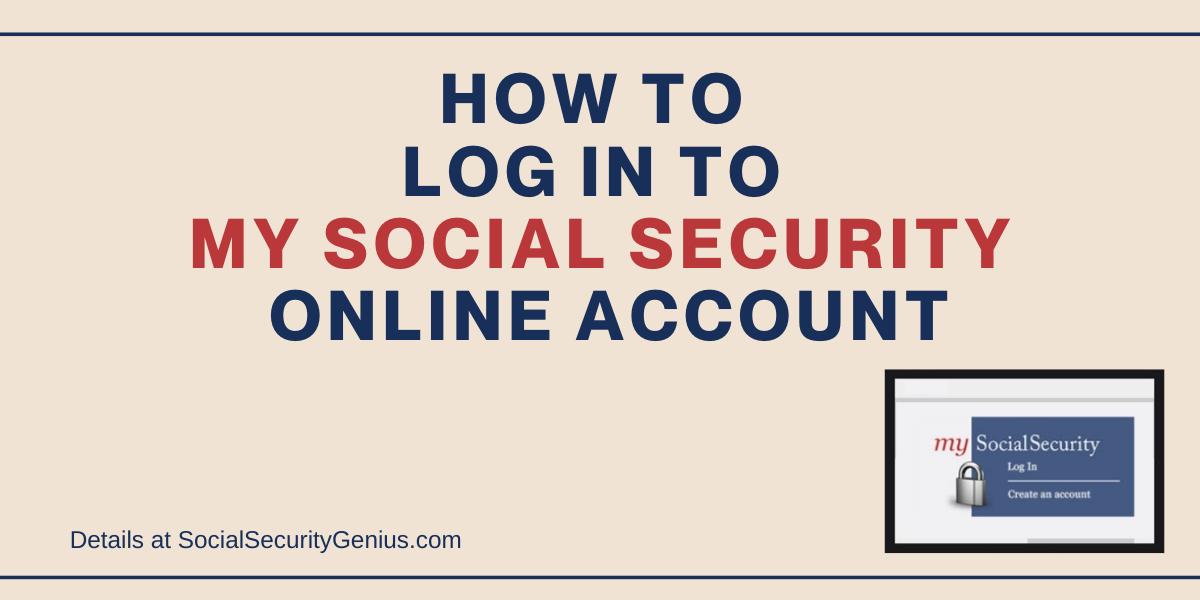 """My Social Security Account Login"""
